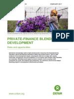 Private-finance Blending for Development