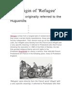 The Origin of Refugee