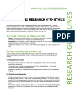 Undertaking Research with Ethics
