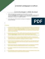 Problematica Proiectarii Pedagogice a Softului Educational