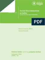 Social Discrimination in India