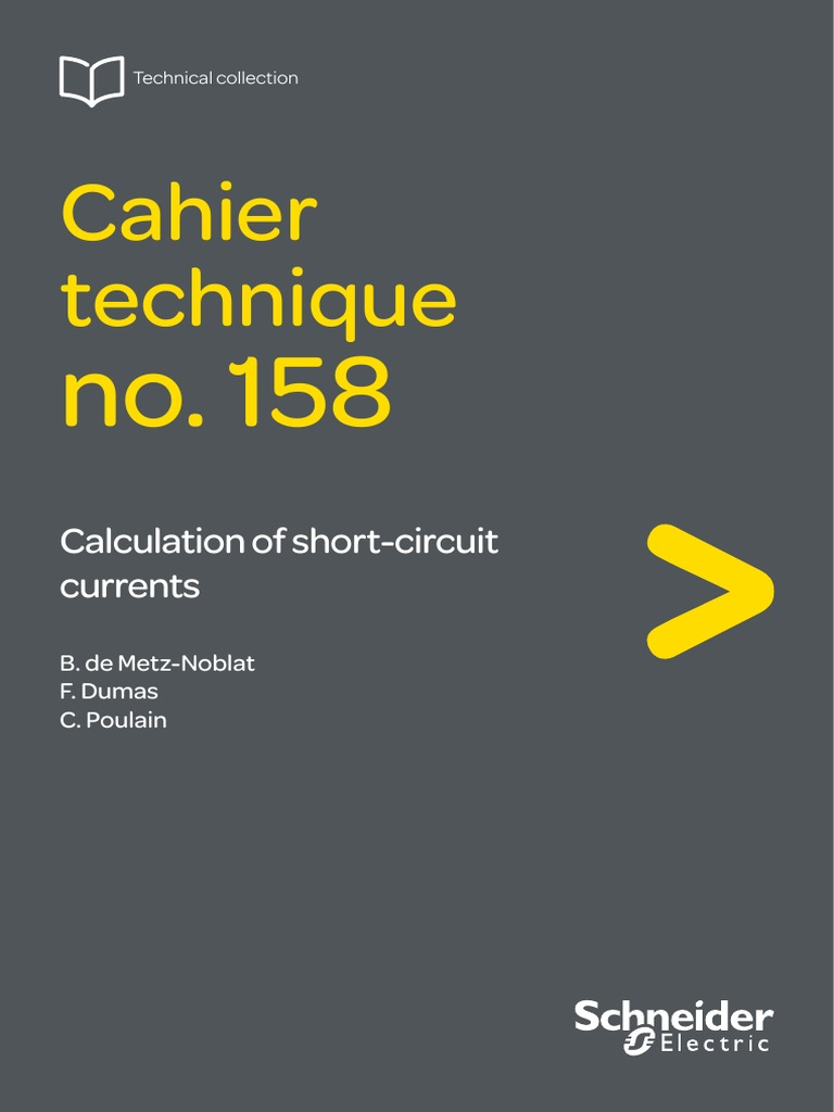 Schneider Ect158 Calculation Of Short Circuit Currents Electrical Direct Online Starter Wiring Diagram Impedance