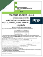 Prova Ifs 2015 Integrado