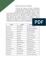 Inventario de Peces en El Salvador