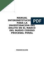 ACTAS de TODO Manual Interinstitucional Para Investigacion Del Delito en El NCPP