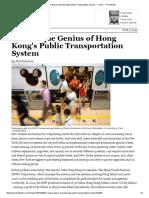The Unique Genius of Hong Kong's Public Transportation System