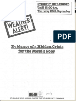 Weather Alert! Evidence of a hidden crisis for the world's poor