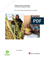 Rising Food Prices in the Sahel