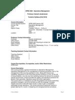 UT Dallas Syllabus for opre6302.502.10f taught by Ganesh Janakiraman (gxj091000)