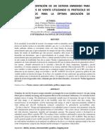 Diseño e Implementacion de Un Sistema Embebido Para Medir Parámetros de Viento Utilizando El Protocolo de Comunicación I2C Para La Óptima Ubicación de Generadores Eóicos