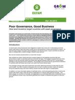 Poor Governance, Good Business