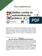 Delitos Contra La Administración Pública 2015