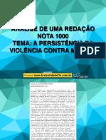 Análise Redação Nota 1000 da Cartilha pdf