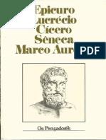 Epicuro, Lucrécio, Cícero, Sêneca e Marco Aurélio