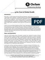 Cutting the Cost of Global Health