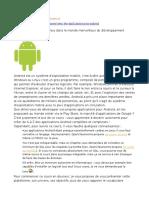Créez Des Applications Pour Android Master