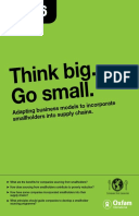 Think Big Go Small: Adapting business models to incorporate smallholders into supply chains