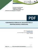 Fundamentos Teóricos en Educación Para La Identidad Musical Venezolana