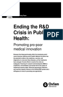 Ending the R&D Crisis in Public Health: Promoting pro-poor medical innovation