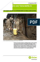 Urban Poverty and Vulnerability in Kenya: The urgent need for co-ordinated action to reduce urban poverty