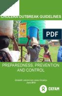 Cholera Outbreak Guidelines: Preparedness, prevention and control
