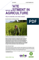 Private Investment in Agriculture: Why it's essential, and what's needed