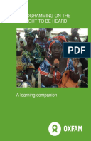 The Right to be Heard Framework: A learning companion
