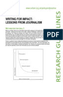 Writing for Impact: Lessons from Journalism