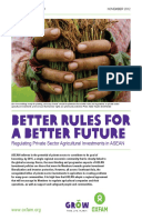 Better Rules for a Better Future: Regulating private sector agriculture