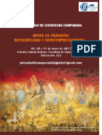 Afiche, Jornadas de Literatura comparada ULA 2017