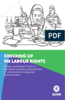 Checking Up on Labour Rights: A basic assessment tool for the labour policies and practices of international companies