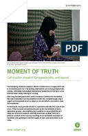 Moment of Truth: Call to action ahead of Syria peace talks, and beyond