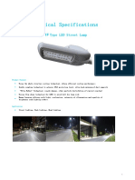 30-60w LED street light Spec T1F Series