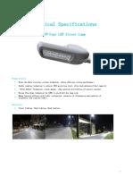30-60w LED street light Spec T1F Series