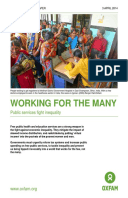 Working for the Many: Public services fight inequality