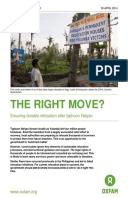 The Right Move? Ensuring durable relocation after typhoon Haiyan
