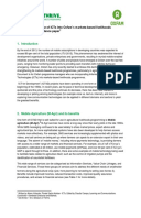 Incorporating the Use of ICTs into Oxfam's Markets-based Livelihoods Programmes: A guidance paper