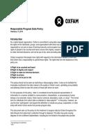 Oxfam Responsible Program Data Policy