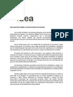 IDEA Declaración_Ecuador 2017