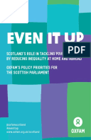 Even It Up: Scotland's role in tackling poverty by reducing inequality at home and abroad – Oxfam's policy priorities for the Scottish Parliament