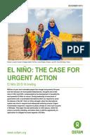 El Niño: The case for urgent action