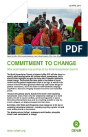 Commitment to Change: What world leaders must promise at the World Humanitarian Summit