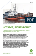 Hotspots, Rights Denied: The lack of a legal framework is threatening the rights of migrants reaching Italy