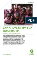 Accountability and Ownership: The role of aid in a post-2015 world