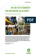 Oxfam GB Statement on Modern Slavery: For the financial year 2015/16