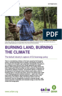 Burning Land, Burning the Climate: The biofuel industry's capture of EU bioenergy policy