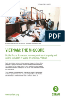 The M-Score: Mobile phone scorecards improve public service quality and control corruption in Quang Tri province, Vietnam