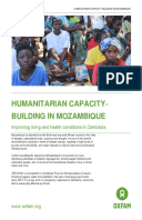 Humanitarian capacity-building in Mozambique: Improving living and health conditions in Zambézia