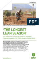 'The Longest Lean Season': How urgent action is needed to counter the devastating humanitarian impacts of the El Niño drought in Southern Africa