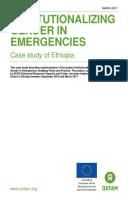 Institutionalizing Gender in Emergencies: Case study of Ethiopia
